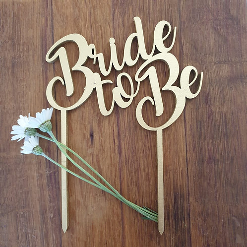 Bride to Be 2 Cake Topper
