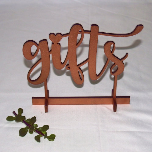 Gifts Sign with Foot Stand