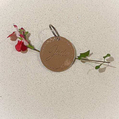 Round Protea Engraved