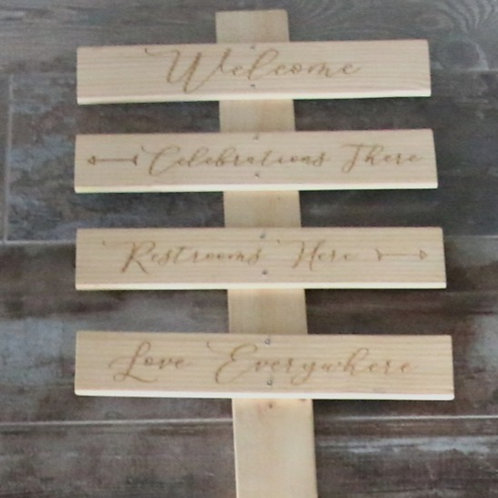 Directional Pallet Board 4 Rows - Engraved