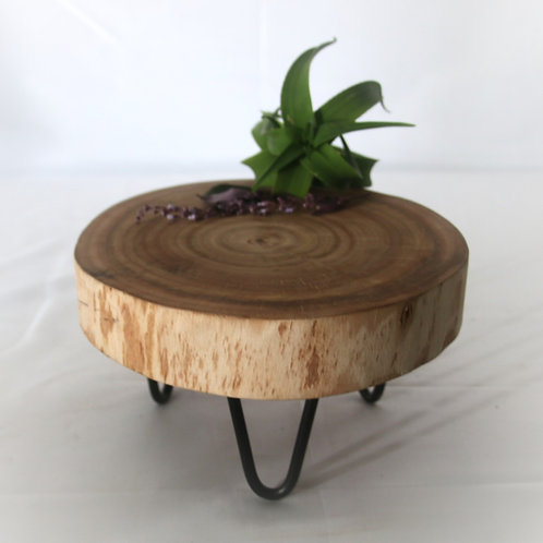 Wooden stand with Metal Feet