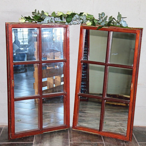 Window frame with 6 mirror panes