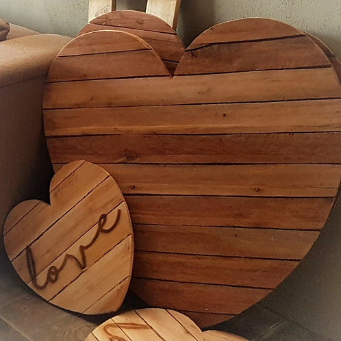 Pallet Hearts Large