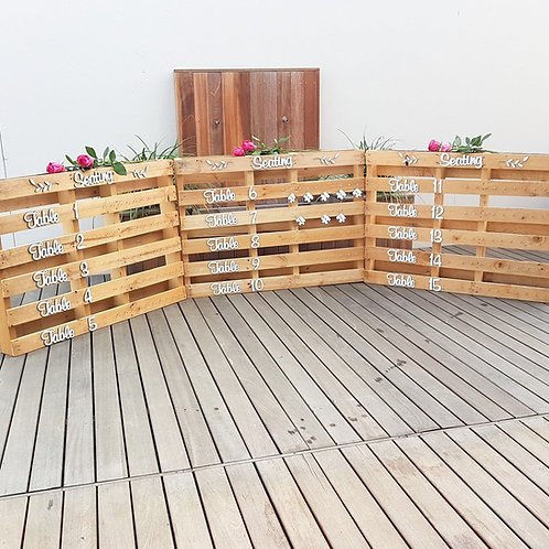 Horizontal Pallet with Keyrings