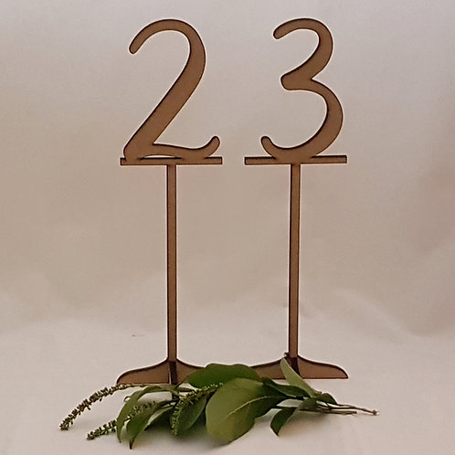 Numerals Table Numbers