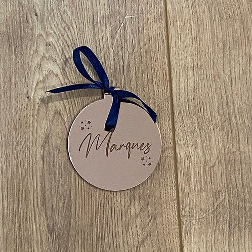 Personalized Perspex Bauble