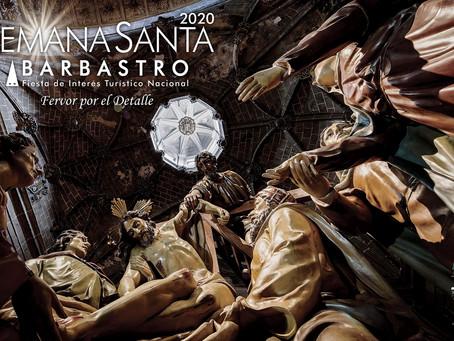 Cartel anunciador de la Semana Santa Barbastrense 2020