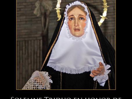 Tríduo en honor de Nuestra Señora de la Soledad