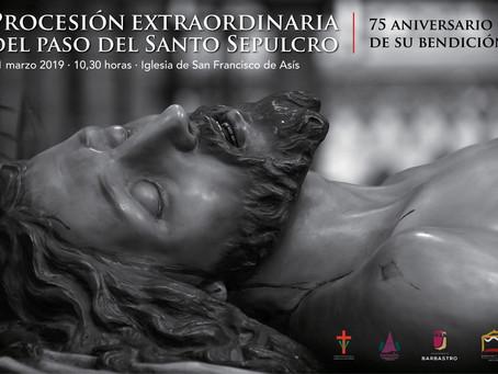 31 de Marzo: Procesión extraordinaria del paso del Santo Sepulcro