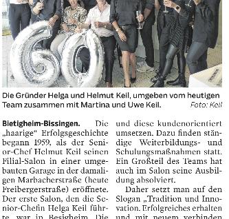 """60 Jahre """"haariges"""" Jubiläum"""