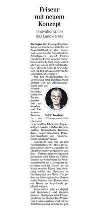 Zeitungsartikel Nominierung Nachhaltigkeit Friseur Bückeburg