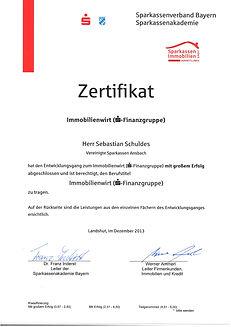 Zertifitkat ausgebildeter Immobilienmakler Ansbach