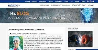 Tim Hunter Intrinsys guest blog on True-Load creation