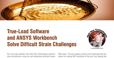 True-Load Software and ANSYS Workbench