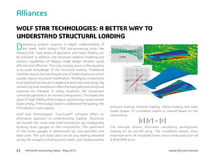 Simulia News: A Better Way to Understand Structural Loading with Wolf Star Technologies