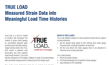 True-Load: Measured Stran Data into Meaningful Load Time Histories