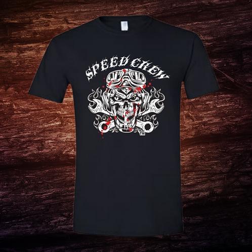 Speed Crew Ghostface Mechanic | Short Sleeve T-Shirt | 100% Pre-Shrunk Cotton