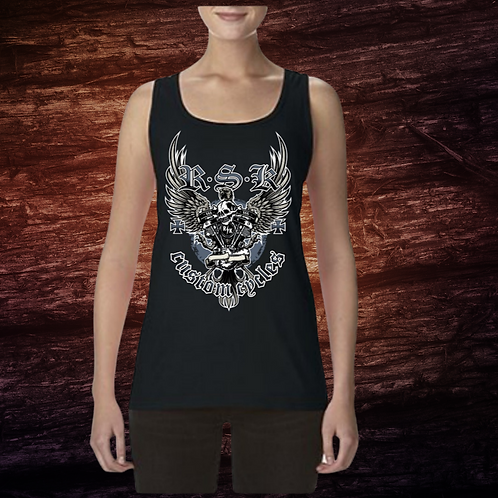 RSK Women's Custom Cycles Tank | Sleeveless Shirt | 100% Pre-Shrunk Cotton