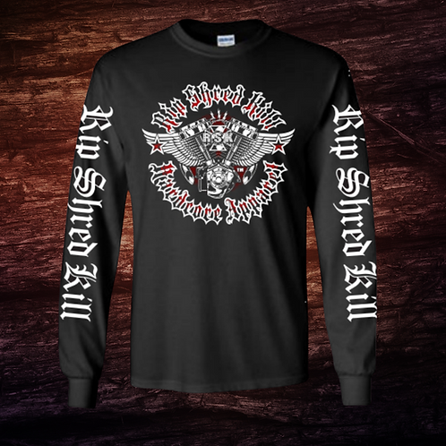 RSK Bike Engine   Long Sleeve T-Shirt   100% Pre-Shrunk Cotton
