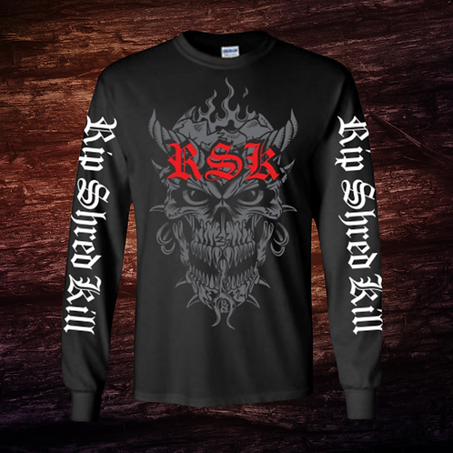 RSK Ghost Face | Long Sleeve T-Shirt | 100% Cotton