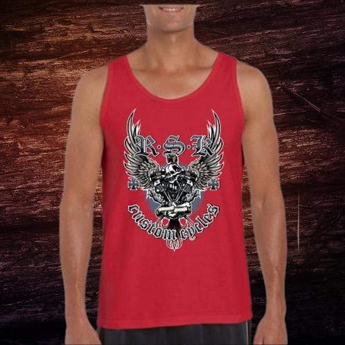 RSK Custom Cycles Tank | Sleeveless Shirt | 100% Pre-Shrunk Cotton