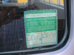 Original Smog Tag Still on Window