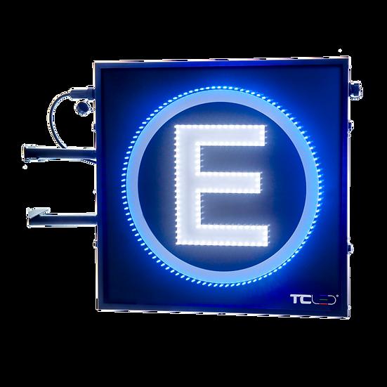Painel de LED para estacionamento 80x80 - Face única