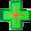 Thumbnail: Cruz de LED para Farmácia 60x60 - Dupla face - Verde/Vermelho