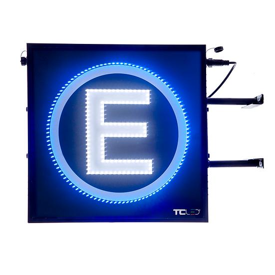 Painel de LED para estacionamento 50x50 - Dupla Face