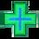 Thumbnail: Cruz de LED para Farmácia 60x60 - Dupla face - Verde/Azul