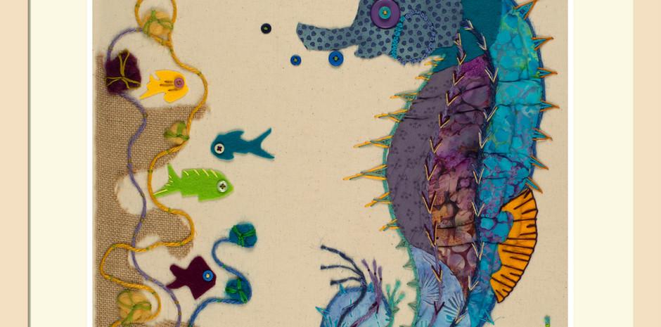 'Seahorse in Ocean Blue'