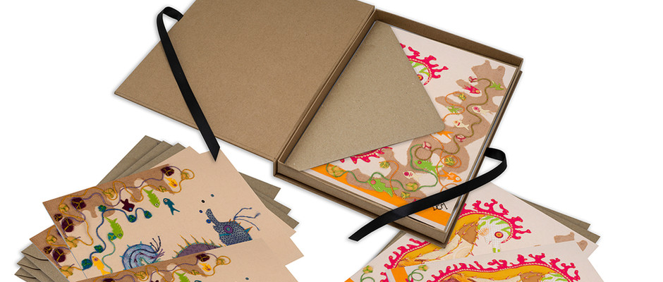 Deluxe Card Collections - Each deluxe, ribbon-tied box contains 6 cards featuring 2 of Deb's  designs.