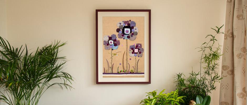 Original Textile Artworks - Deb's unique designs are entirely handsewn.