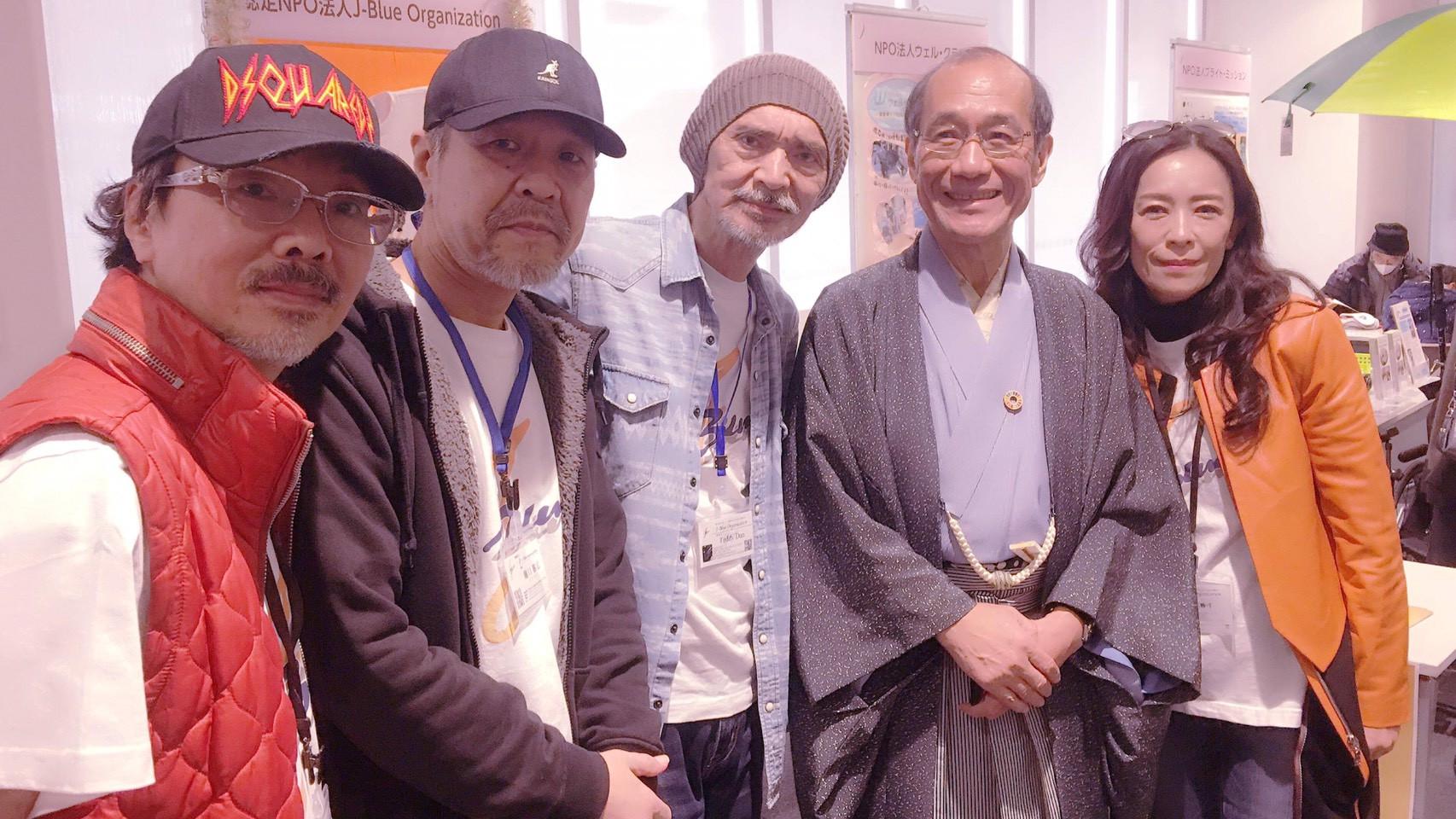 京都市門川市長との写真撮影