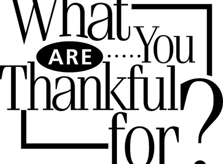 Thankful for what?
