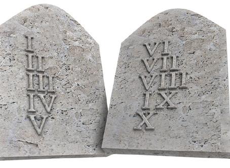 The Ten Commandments...