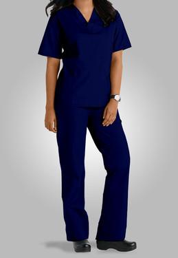 conjunto pijama cirurgico feminino azul.