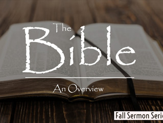 Overview of the Bible -Wrapping Up