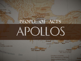 People of Acts: Apollos