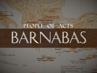 People of Acts: Barnabas
