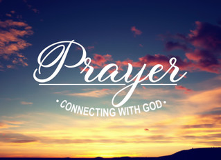 Prayer - Connecting With God (week 3)