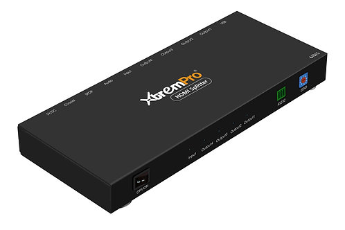 XtremPro 61015 HDMI 2.0 4 PORTS SPLITTER WITH EDID + RS232 + AUDIO(UL)