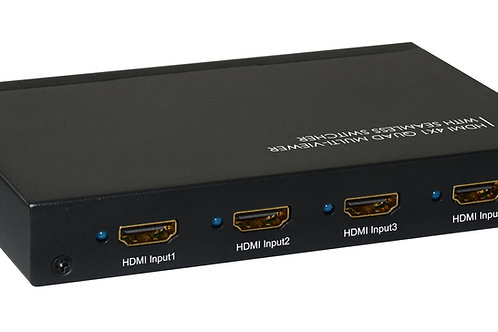 XtremPro 61035 HDMI 4x1 Quad Multi-Viewer With Seamless Switcher(UL)