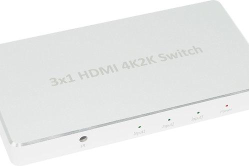 XtremPro 64301KA 3X1 HDMI ALUMINIUM 4K2K SWITCH
