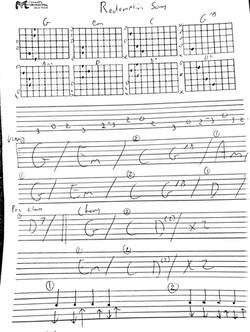 redemption song intro and chords Bob Mar