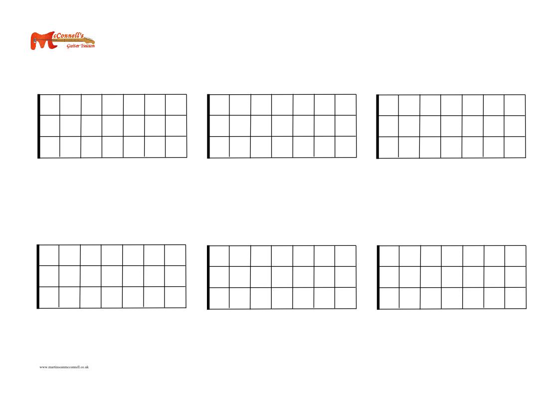 bass six blank fretboards