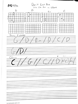 don't look back into the sun chords
