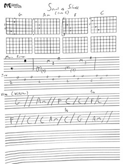 sound of silence picking pattern and cho