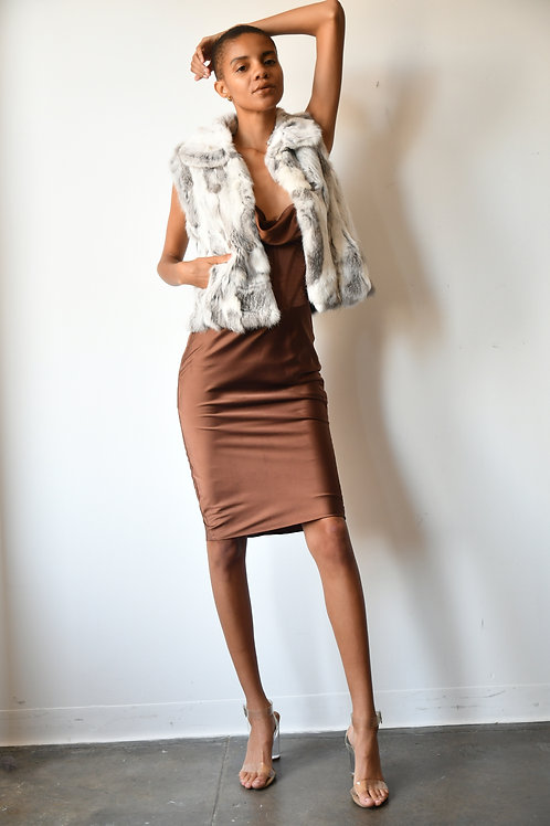 The Cropped Neutral Vest