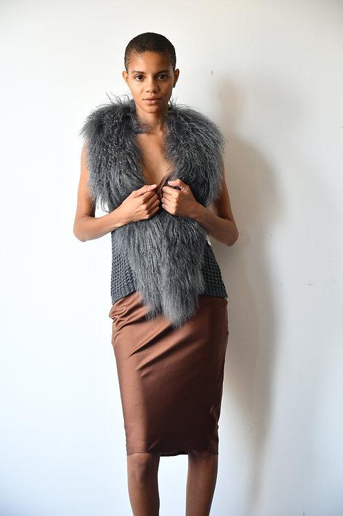 The Knit Fur Vest